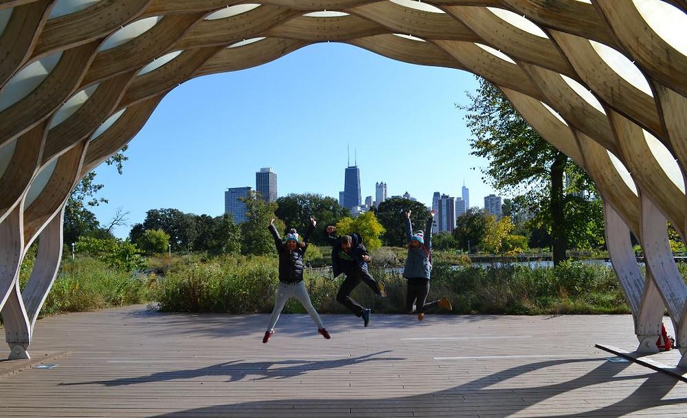 Education Pavilion es uno de los lugares más fotogénicos de Chicago