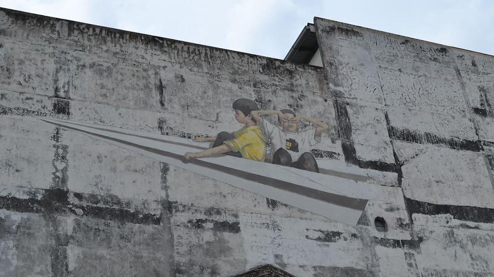 El arte callejero nos acompañó a lo largo de nuestro viaje por Malasia