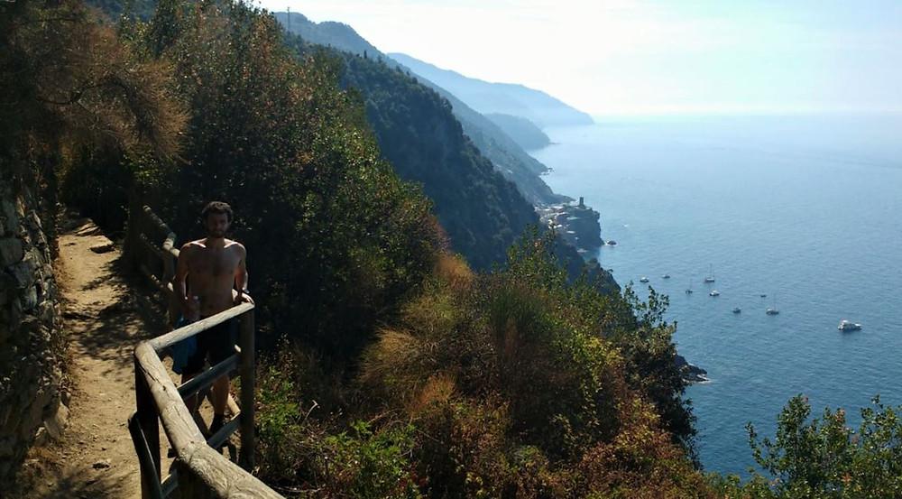 La escarpada costa de las Cinque Terre