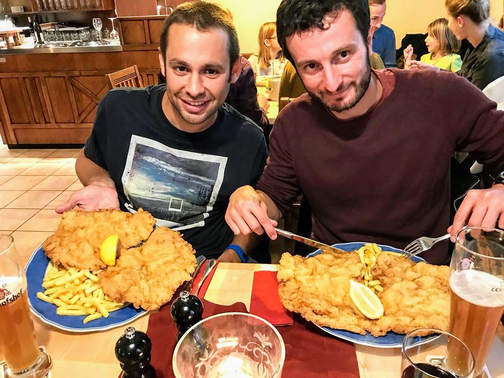 Los schnitzel de Kreuzschänke