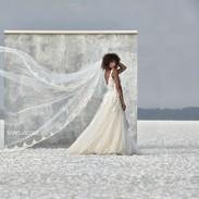 The Arpi Dress & Veil - Saro Jacques