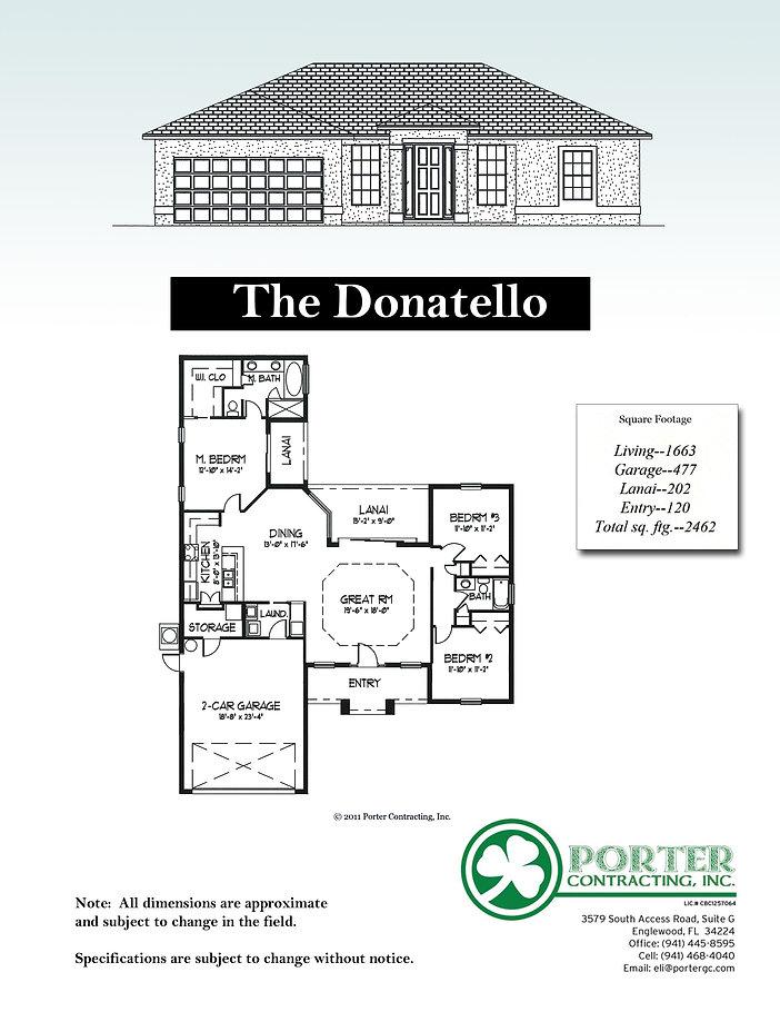 Donatello Model Home specs