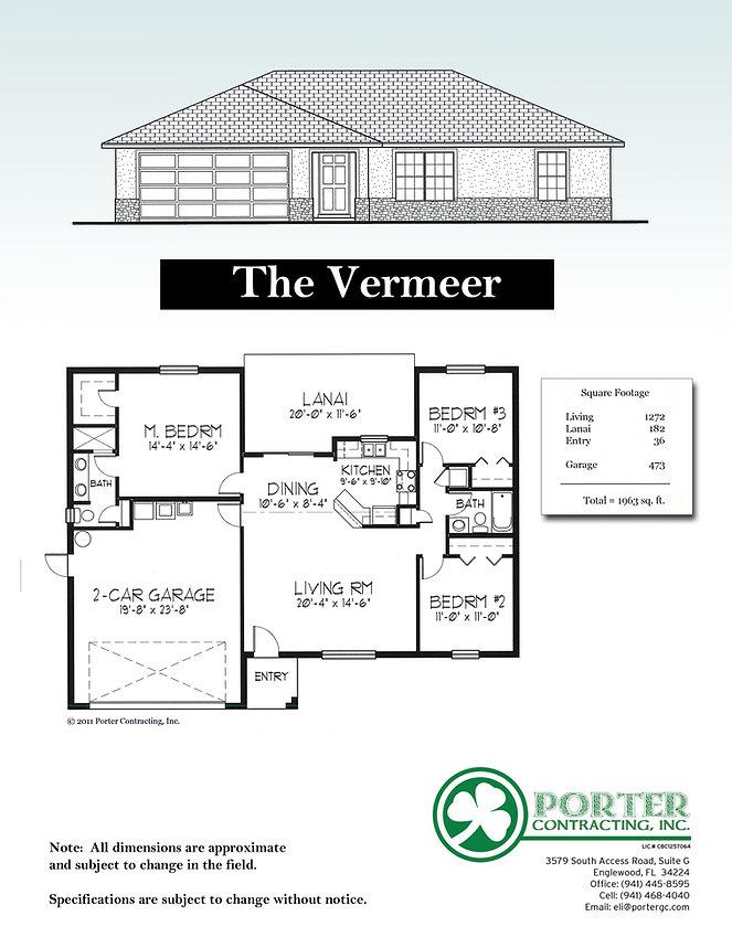 Vermeer Model Home specs
