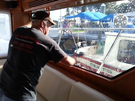 Boat/Marine Window Tinting Film Installation