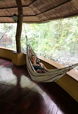 Hammocking in a Yurt