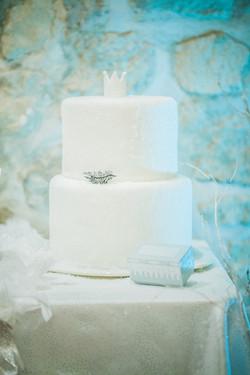 Weding cake givré