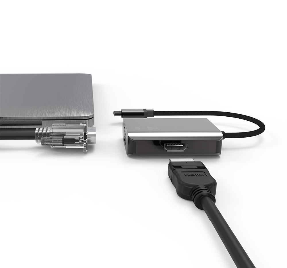 Display 2 in 1 USB-C Hub