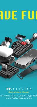 Jet Glass 8-in-1 USB-C Lego Hub