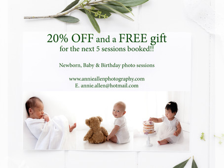 Newborn, Baby & Birthday Photo Shoot Offer!