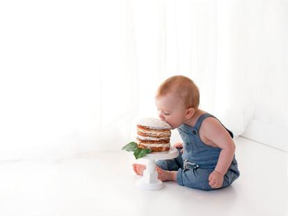 Baby boy natural simple cake smash - fleet farnham farnborough area