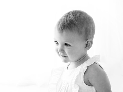 Natural Baby Photos In White Studio - Photography Photoshoot Aldershot Hampshire Guildford