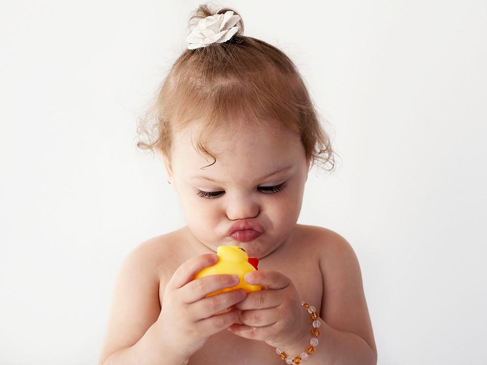 Baby bath photo shoot natural