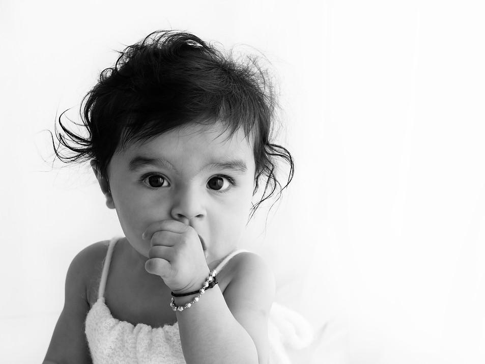 Natural Baby Photos In White Studio - Photography Photoshoot Aldershot Hampshire