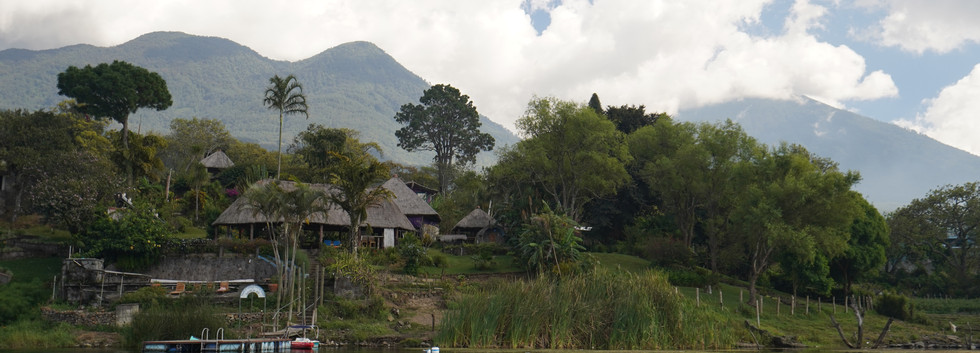 View of palapa from the lake