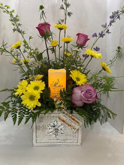 Memorial Candle Basket