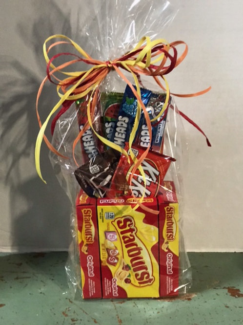 Box Candy Basket Filled with a Variety of Candy
