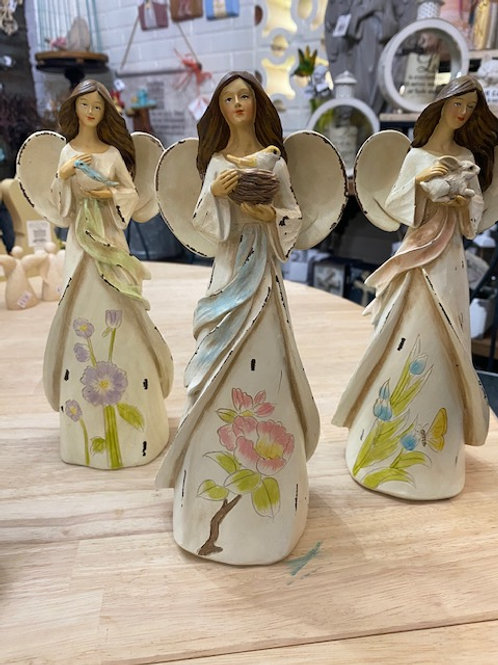 10 inch Resin Distressed Forrest Angel