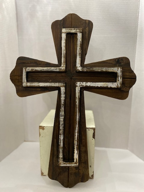 Rustic Wooden Cross 21 inches