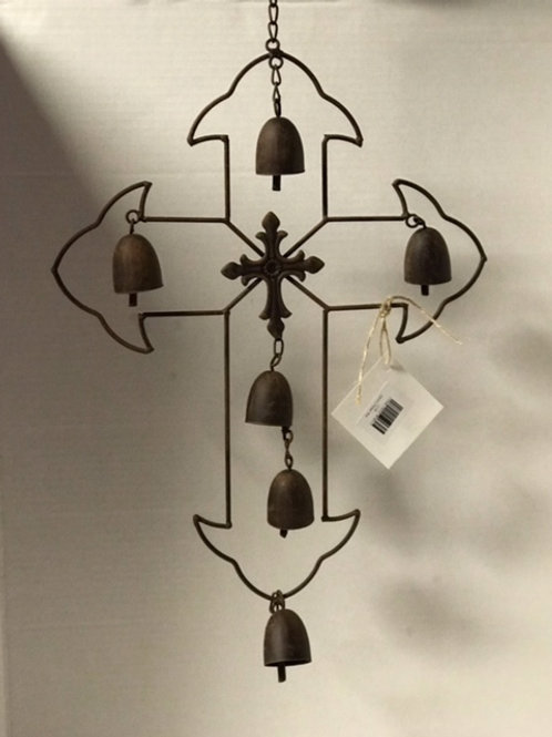 Cross with Bells Wind Chime