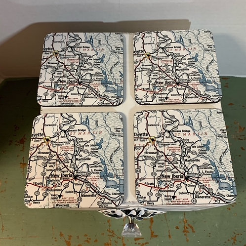 St. MARTINVILLE MAP COASTERS