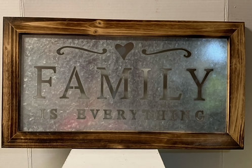Family Is Everything Tin Wall Decor, 22X12