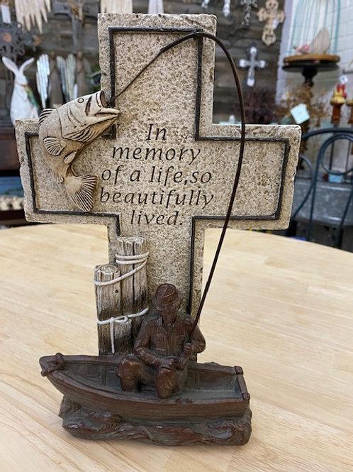 Fisherman's Memorial 12 inch Cross