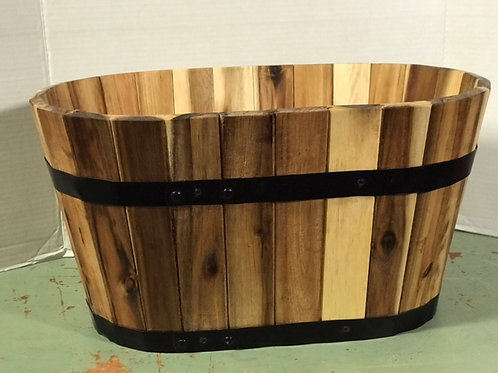 Oval Wooden Planter