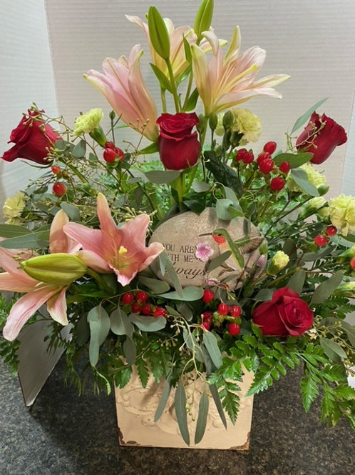 RED ROSES AND LILIES