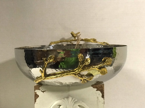 Silver and Gold Bowl and Tray