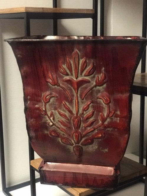 Embellished Tin Planter