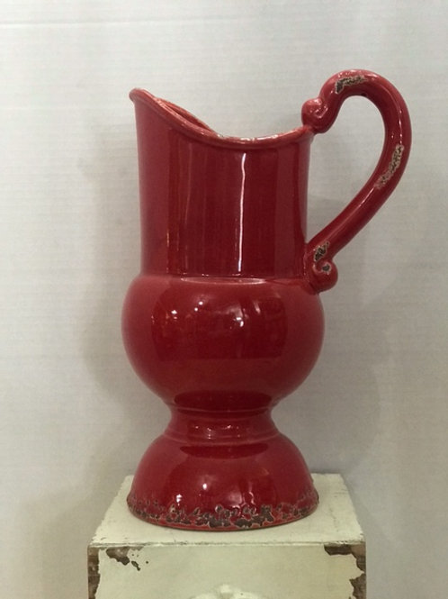 Large Red Pitcher