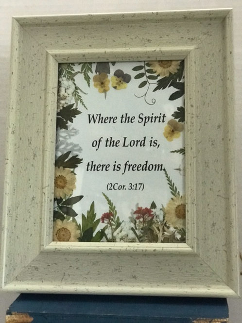 Blessed Flower Framed Prayer