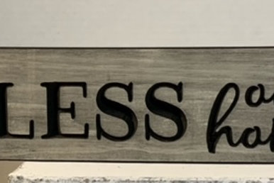 Engraved Wood Signs,3.5X16