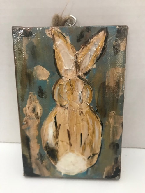 """Purple Lemon Art Textured Rabbit, 4""""x 6"""""""