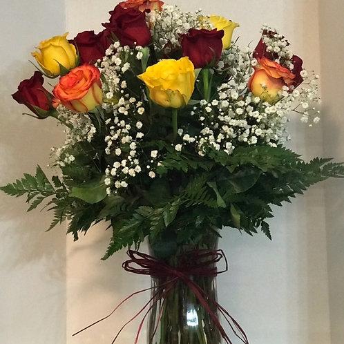 Mixed Roses, 2 dozen