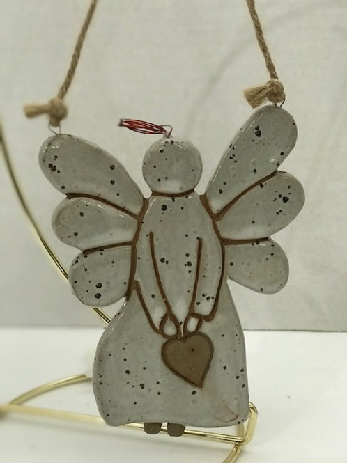 Angel With Heart Ornament