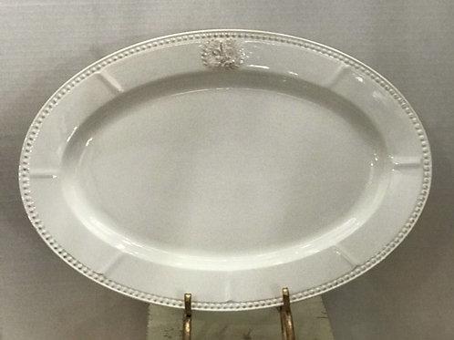 Large Oval Fleur De Lis Platter