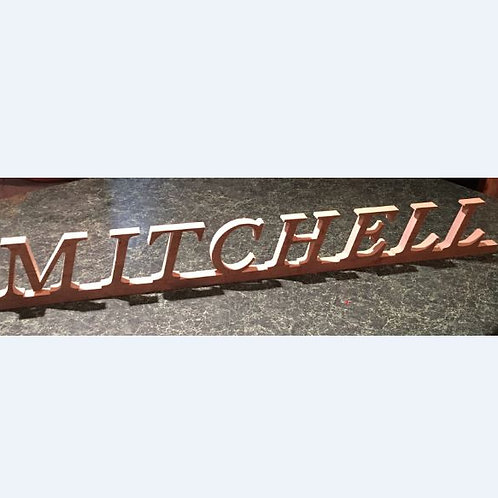 """Personalized Wooden Signs, 3.75"""" H"""