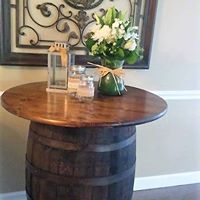whiskey barrel with top