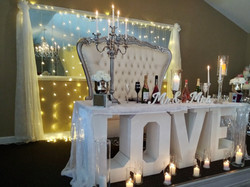 love table at stage