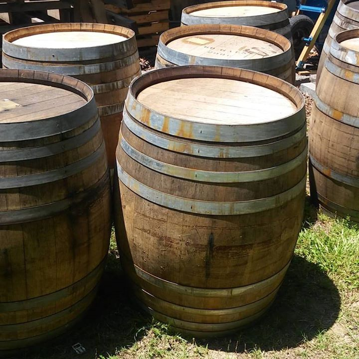 The Carriage House Wedding Venue in Indian Trail NC #whiskey barrels#farm#rusticwedding#We picked a