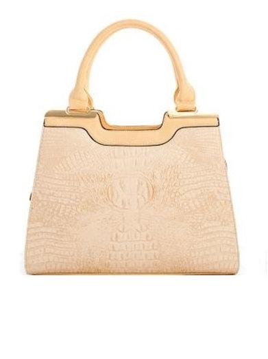 Faux Croc Handbag