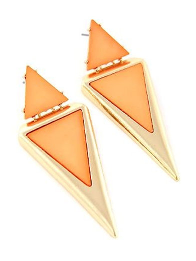 Coral Tri-Earrings