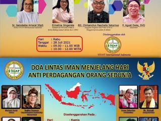 VIVAT INTERNASIONAL INDONESIA Selenggarakan Seminar dan Doa Lintas Iman Virtual Hari Menentang TPPO