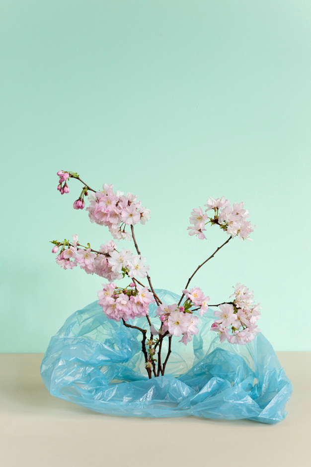 Sac et fleurs