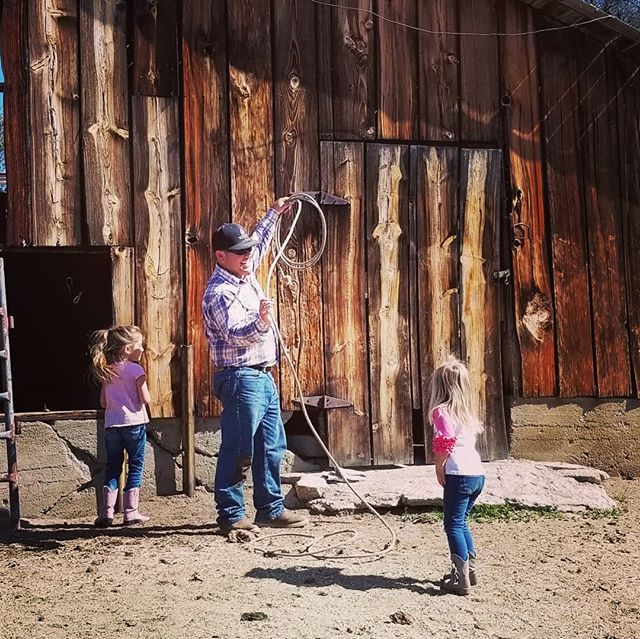 Little cowgirls and their favorite cowbo