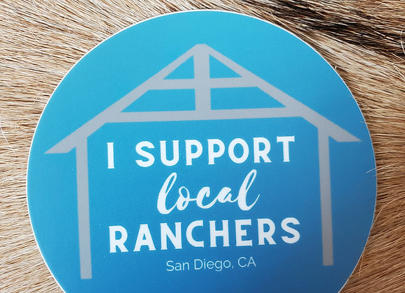 I Support Local Rancher Sticker