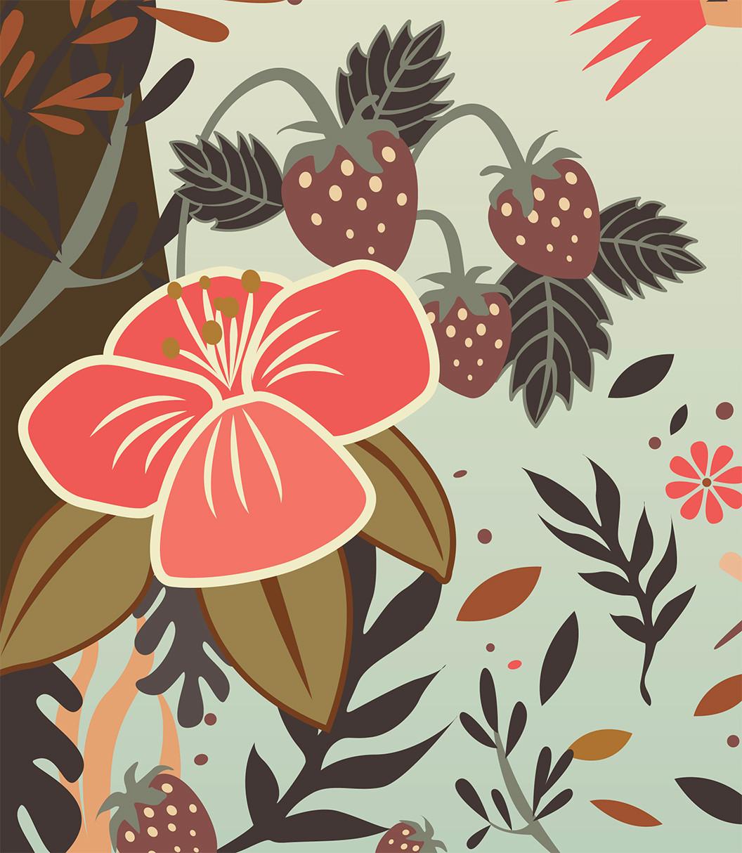 Flower Illustration Detail