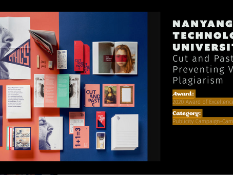 Cut & Paste: Award of Excellence in the Communicator Award 2020!