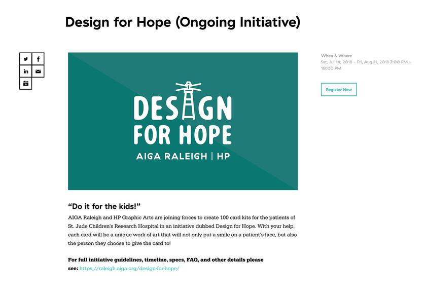 Design For Hope Webpage